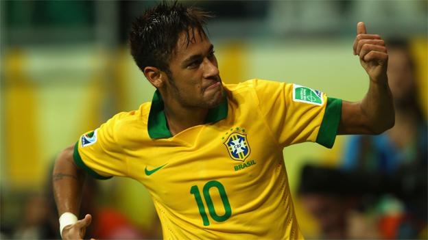 neymar brasil chile